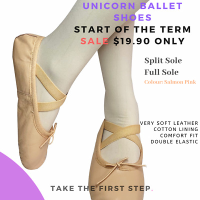 Unicorn Super Leather ballet shoes child and Adult Full sole and Split Sole