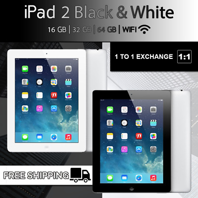 Brand New Apple iPad 2 Black White 16GB/32GB/64GB