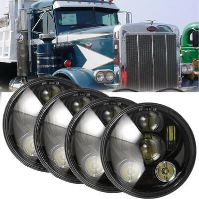 "4pcs 5.75"" 5 3/4"" Inch LED Headlights Sealed Beam Projector DOT For Ford Black"