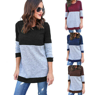 Women Jumper Tops Long Sleeve Loose Tunic Pullover Sweater Blouse Dress