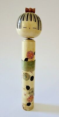 Vintage Traditional Japanese Kokeshi Wooden Doll 33cm
