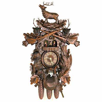 "Cuckoo Clock 8-day-movement Carved-Style 23.6"" by Hekas"