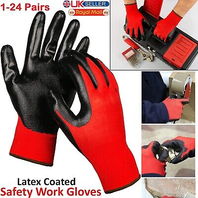 Gardening,Builders Gloves Breathable Pu Coated  Gloves 1,6 12 Safety Work 24
