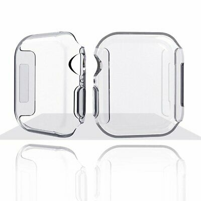 For Apple Watch Series 4 Ultra Thin Clear TPU Protective Case Cover 40/44MM X 2
