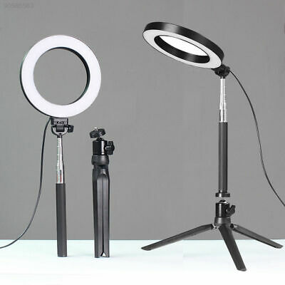 """7B81 6"""" Dimmable 5500K LED Ring Light Kit with Stand for Makeup Camera Selfie"""