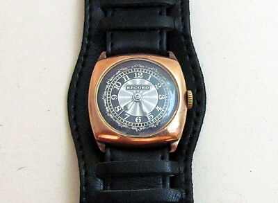 RECORD GOLD Case 375 Swiss Vintage Mechanical Wristwatch 15 jewels 8K Servised