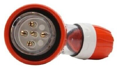 Clipsal INDUSTRIAL ANGLE PLUG 500V 5-Round Pins, Electric Orange-10A, 40A Or 50A
