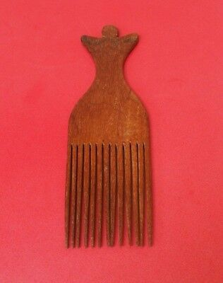 South Pacific Oceanic Polynesian Fijian Islands Fiji Carved Wooden Hair Comb Nr!
