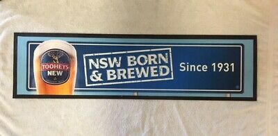 Bar Mat Runner Genuine Tooheys New NSW Born & Brewed Rubber  Free Postage
