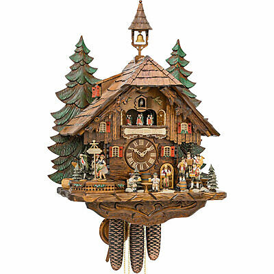 """""""Clock of the Year 2018"""" Cuckoo Clock 8-day-movement Chalet-Style 24.8"""" by Hekas"""