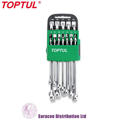 Toptul 12 Piece Metric 15° Offset Hi-Performance Combi Spanner Set - Gsax1201