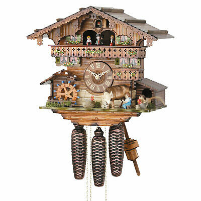"""Cuckoo Clock 8-day-movement Chalet-Style 13"""" by Hekas"""
