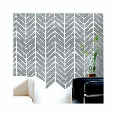 HERRINGBONE Chevron - Furniture Wall Floor Stencil for Painting