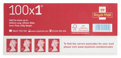 100 x Royal Mail First 1st Class Stamps x 100 Self Adhesive Sheet RRP £67 NEW