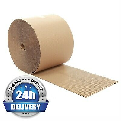 450mm x 75m Metre Brown Corrugated Cardboard Paper Roll Protection Parcel