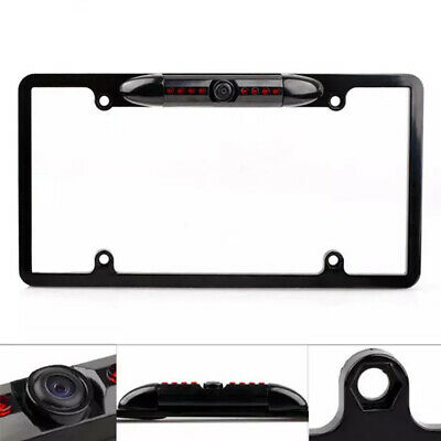 Waterproof 170° US Car License Plate Frame CMOS Rear View Night Vision Camera RS