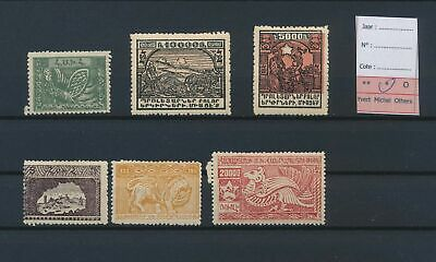 LJ77394 Armenia good lot of better stamps fine MH