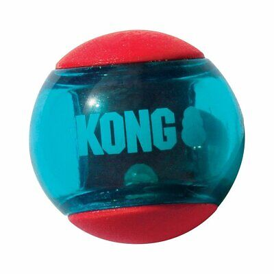 KONG Squeezz Action Multi-textured Red Rubber Ball Dog Toy