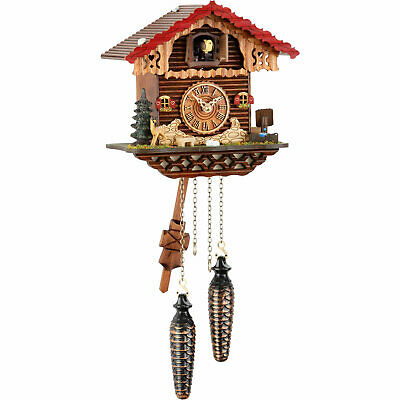 "Cuckoo Clock Quartz-movement Chalet-Style 7.9"" by Trenkle Uhren"