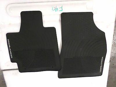 Nice Oem All Weather Floor Mats Pair Toyota Highlander Black 08-13 Fronts