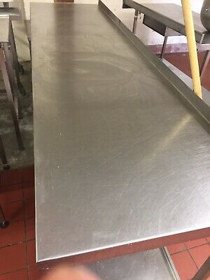 Commercial catering stainless steel table 2.4m With Shelf.