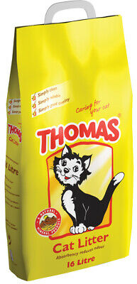 Thomas Cat Litter 16ltr DAMAGED PACKAGING + Food Scoop
