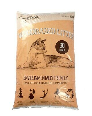 Mayfield Woodbased Cat Litter 30ltr DAMAGED PACKAGING + Food Scoop
