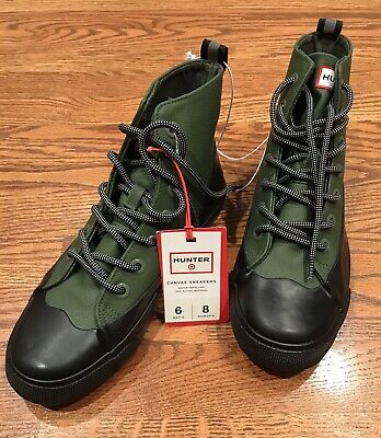 8e6a42e47fb  NEW HUNTER Target Adult Unisex Dipped Canvas High Top Sneakers OLIVE M 6    W