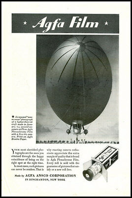 1945 vintage ad for Agfa photographic  Film