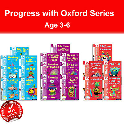 Progress with Oxford series Ages 3-6 books set pack Preschool, Key Stage 1 NEW