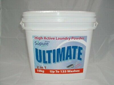 So Pure Ultimate High Active Laundry Powder 2in1 10Kg 135 Washes Washing Prime