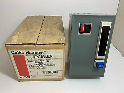 New! Cutler-Hammer Size 0 Freedom Series Starter An16Bg0A 110/120 Volt 50/60 Hz