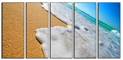 5 Piece Large Beach Sand Sea Canvas Wall Art Print Decor for Bedroom Home Living