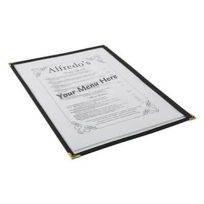 American Style Clear Menu Holder A5 Bar Pub Catering Restaurant Sign 1 Page