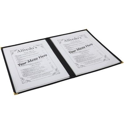 American Style Clear Menu Holder A5 Bar Pub Catering Restaurant Sign 2 Page