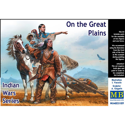 MASTER BOX: 1/35 On the Great Plains,Indian Wars (2 fig+horse)