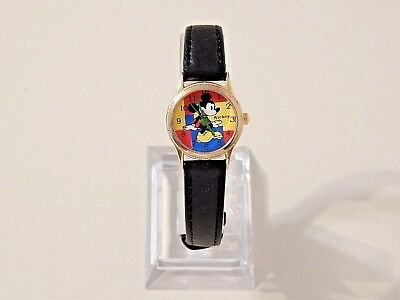 Mickey Mouse Wrist Watch * New Energizer Battery * New Leather Band *