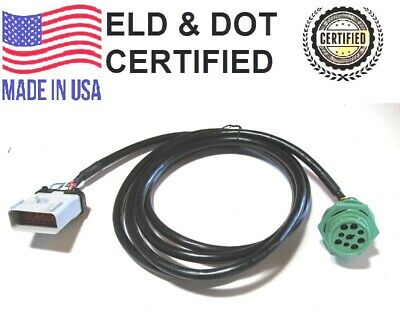"""Apex 14 way 54201416 to 9 pin w//JAM NUT ELD cable 2019 Kenworth Pete RP-1226 24/"""""""