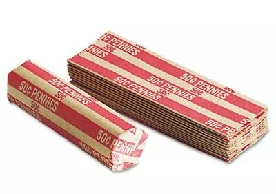 400 Paper Coin Wrappers For Cent/ Penny Fast Free Shipping!