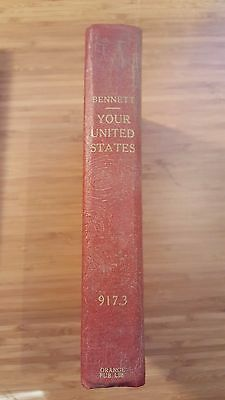 YOUR UNITED STATES Impressions of a First Visit BENNETT 1st Edition HC Withdrawn