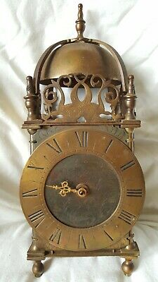 OLD BRASS MANTLE CLOCK for restoration