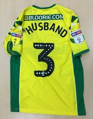 Official Norwich City Home Player Issue Shirt - James Husband