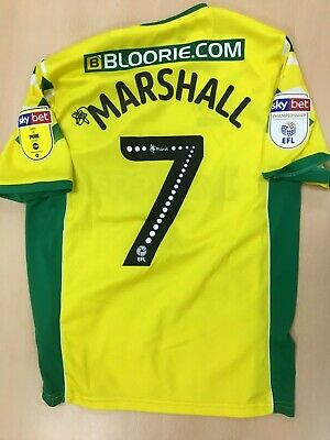 Official Norwich City Home Player Issue Shirt - Ben Marshall