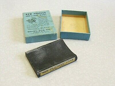 Vintage New Process Hone for Razor Blades, Brown Mfg Co Olean, NY