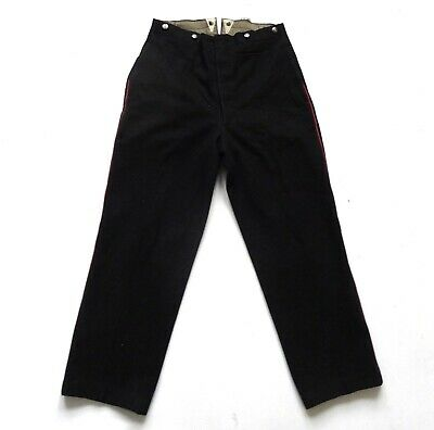 "Mens Vintage 50's / 60's Black Wool Trousers 34"" Waist  / 30"" Leg"