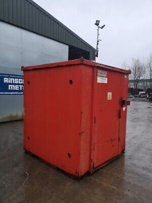 6ft Long 6ft Wide Red Storage Container / Chemical Vault / Chemical Store / Chem