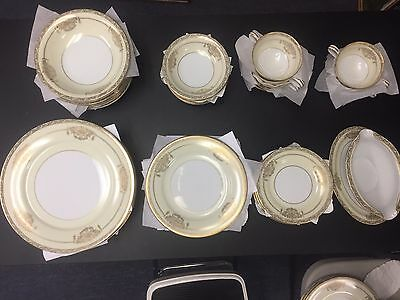 service for 8 Vintage Gold Noritake China Japan Bancroft 5481 49 pcs