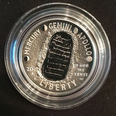 2019 S Apollo 11 50TH Anniversary Proof Half Dollar In Airtight (NO BOX or COA)