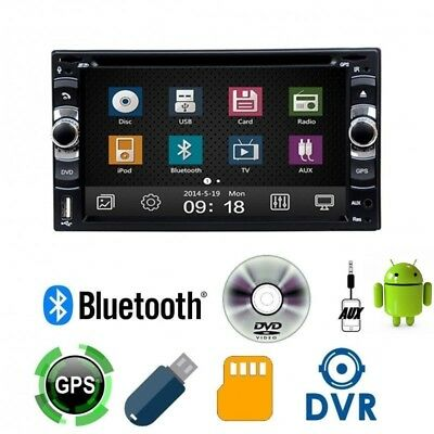 "Autoradio ANDROID 2 Din 7"" GPS Navigatore DVD CD Bluetooth Stereo  USB SD AUX"