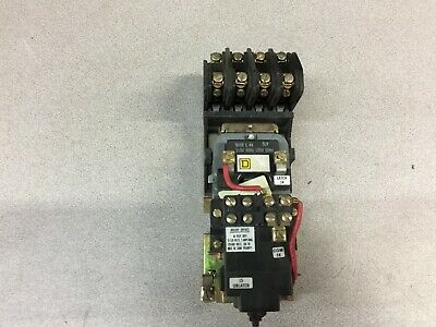 Used Square D 120Vac Coil 4Pole  Lighting Contactor 8903Lxo40